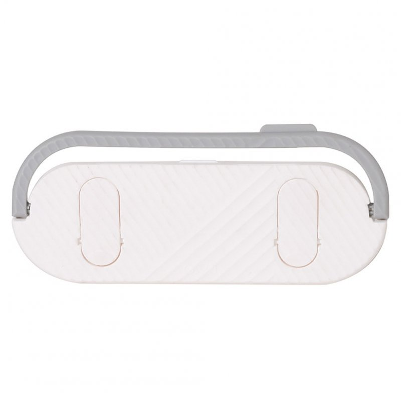 Multifunctional Bathroom Slippers Rack Free Punching Wall Drain Rack for Bathroom Kitchen Towel Hanging white