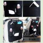 Multifunctional Car Back Seat Storage Bag Backrest Pockets Protector Organizer Auto Accessories