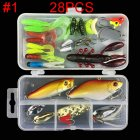 Multifunctional Fishing Lure Fake Bait Artificial Swimbait Fishing Hook Kit 28pcs/set_Lure bait set