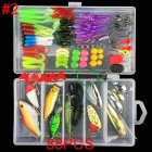 Multifunctional Fishing Lure Fake Bait Artificial Swimbait Fishing Hook Kit 88pcs/set_Lure bait set