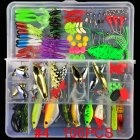 Multifunctional Fishing Lure Fake Bait Artificial Swimbait Fishing Hook Kit 106 pcs/set + frog_Lure bait set
