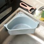 Multifunctional Household Sink Suction Rack Kitchen Triangle Rack Drain Rack Scouring Pad Sponge Bracket blue