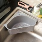 Multifunctional Household Sink Suction Rack Kitchen Triangle Rack Drain Rack Scouring Pad Sponge Bracket gray
