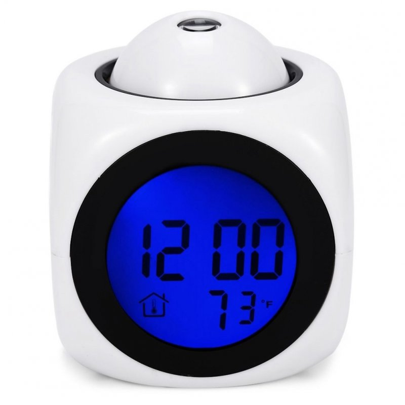 Multifunctional LED Colorful Projection Alarm Clock Talking Clock Sound Control Projection Clock