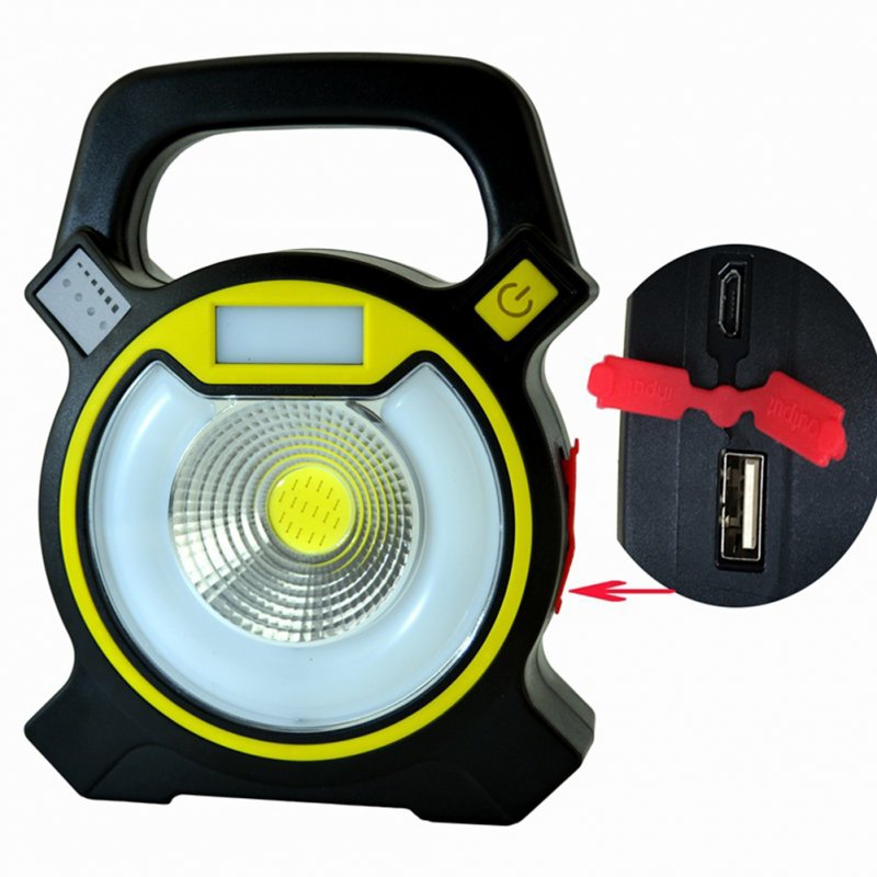 Multifunctional Portable USB Charging High Power Flashlight COB Work Light Outdoor Tent Camping Lamp As shown
