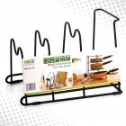 Multifunctional Pot Lid Holder Rack Storage Pan Cover Cabinet Pantry Rack Organizer black
