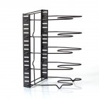 Multifuntion Storage Rack for Kitchen Cookware Pot Cutting Board Organization black