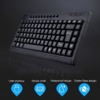 Multimedia Keyboard 1.2m Cable Wired Silent Keyboard Mute Typing Technology Waterproof Gaming Keyboard for Notebook Laptop PC black