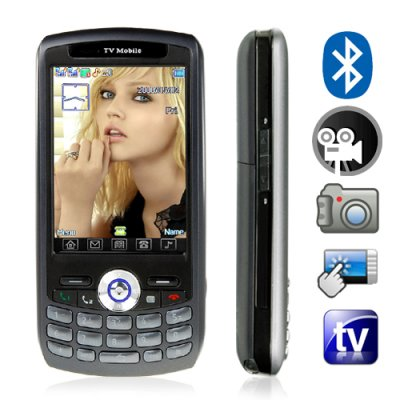 Quad Band Touchscreen Cell Phone - Dual SIM/Dual Standby (Black)