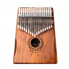 Muspor 17 Keys Wreath Acacia Kalimba Thumb Piano Mbira  Wood color