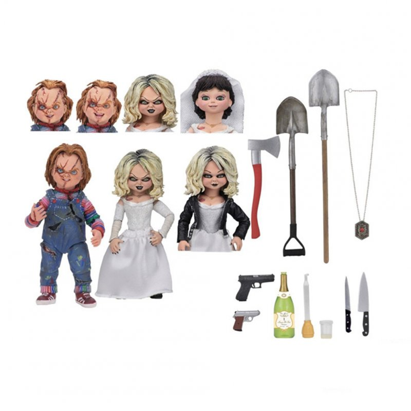 NECA - Bride of Chucky -  Scale Action Figure - Ultimate Chucky & Tiffany As shown