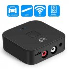 NFC Bluetooth 5.0 Receiver 3.5mm APTX LL AUX RCA Jack Wireless Adapter Auto Car Bluetooth Audio Receiver black
