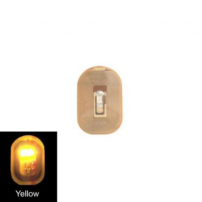 NFC Nail Art Tips DIY Stickers Phone LED Light Flash Party Decor Nail Tips yellow light