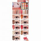 NOVO 9 Colors Glitter Eyeshadow Palette Waterproof Long-lasting Party Makeup Palette Cosmetics