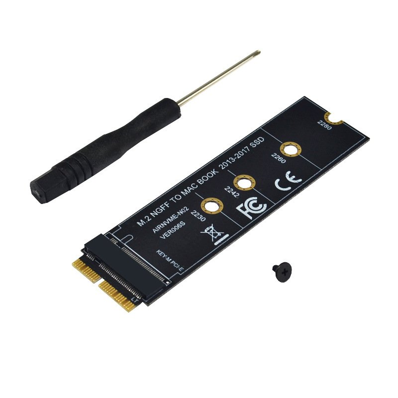 NVMe PCIe M.2 M Key SSD Adapter Card Expansion Card for Macbook Air 2013 2014 2015 New Computer Cables Connectors Black large board