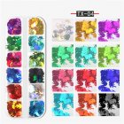 Nail Art Sequins Maple leaf butterfly alphabet flame Geometric Sequins DIY Decoration Flame sequin TX-04