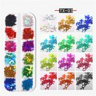 Nail Art Sequins Maple leaf butterfly alphabet flame Geometric Sequins DIY Decoration Aircraft sequin TX-03
