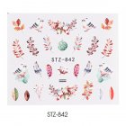 Nail Art Water Transfer Sticker Decals Flower Leaf Summer DIY Manicure Decor STZ-842