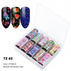 Nail Star Sticker Set DIY Nail Sticker Nail Starry Sky Art Decoration Stickers Star Paper TZ02_Pack of 10 4cm * 120cm