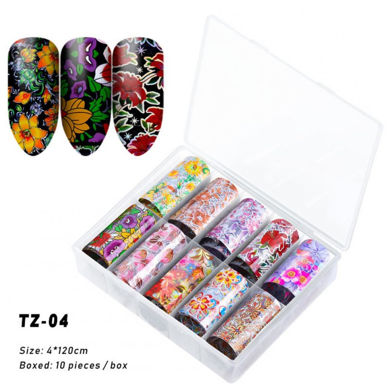 Nail Star Sticker Set DIY Nail Sticker Nail Starry Sky Art Decoration Stickers Star Paper TZ04_Pack of 10 4cm * 120cm