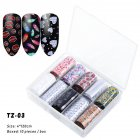 Nail Star Sticker Set DIY Nail Sticker Nail Starry Sky Art Decoration Stickers Star Paper TZ03_Pack of 10 4cm * 120cm