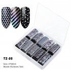 Nail Star Sticker Set DIY Nail Sticker Nail Starry Sky Art Decoration Stickers Star Paper TZ05_Pack of 10 4cm * 120cm