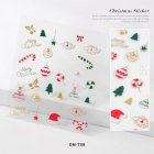 Nail sticker Cartoon Christmas Series Nail Art With Diamond Stickers 3d Santa Snowflake Nail Decoration Stickers 3D Christmas model with diamond sticker-08