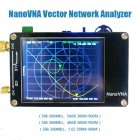 NanoVNA VNA 2.8Inches LCD HF VHF UHF UV Vector Network Analyzer 50KHz-900MHz Antenna Analyzer Built-in Battery black