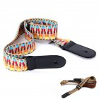 National Style Guitar Ukulele Strap Adjustable Belt With PU leather Ends Rainbow strap