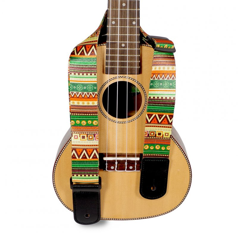 National Style Printing Folk Guitar Straps Thickened Electric Guitar Bass Ukulele Straps National style