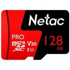 Netac P500 PRO TF Card   Red Black   Micro SD Card   128 GB