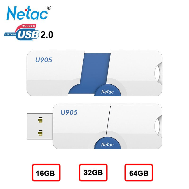 Netac USB Flash Drive 16GB 32GB 64GB Pendrive Memory Stick for Computer Desktop Flash Disk  Silver_64GB