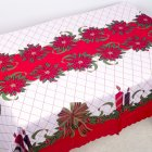 New Christmas Decorations Polyester Printed Dust-Proof Tablecloth Table Kitchen Dining Cloth 150*180cm B candle plaid