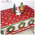 New Christmas Decorations Polyester Printed Dust-Proof Tablecloth Table Kitchen Dining Cloth 150*180cm E garland