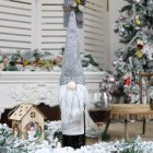 New Christmas Decorations Faceless Old Man Doll Wine Bottle Set Christmas Champagne Decoration Wine Bag Gift Bag gray