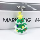 New Creative PVC Silicone Christmas Key Ring Keychain Small Gift Bag Car Key Pendant Christmas tree
