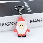 New Creative PVC Silicone Christmas Key Ring Keychain Small Gift Bag Car Key Pendant Santa A
