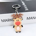 New Creative PVC Silicone Christmas Key Ring Keychain Small Gift Bag Car Key Pendant Elk A