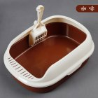 New Heightened Crack-Proof Polyester Pet Litter Box For Cat Kitten Indoor Cat Toilet coffee