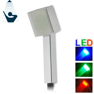 LED Color Changing Shower Head (Square Edition)