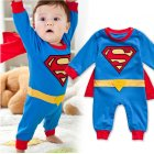 Newborn Baby Cartoon Jumpsuit Unisex Cute Long Sleeve Romper with Cloak