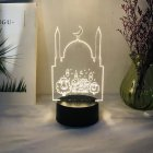 Night Light Local Eid Al Adha Led Lamp Mubarak Ramadan Decorations Black base