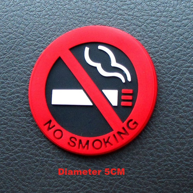 No Smoking Car Stickers Styling Round Red Sign Vinyl Sticker  red