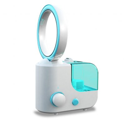 No-blade Fan Humidifier - Blue, US Plug