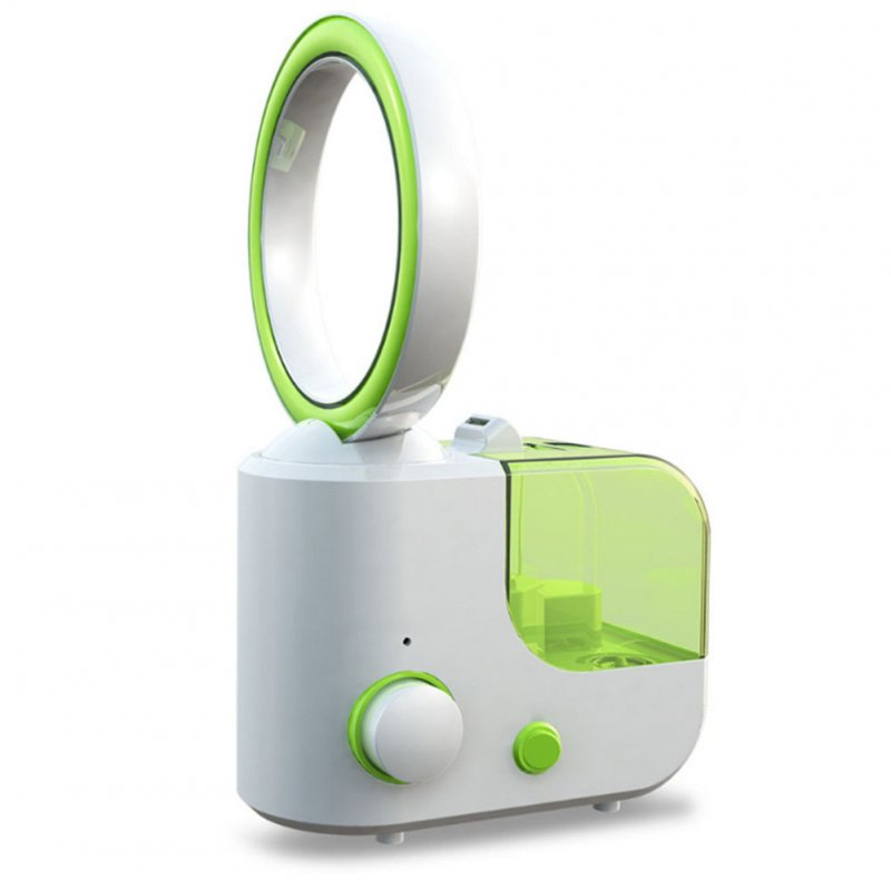 No-blade Fan Humidifier - Green, EU Plug