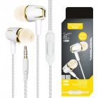 Noise Reduction Wired Earphone Portbale Universal In Ear Headset Gold
