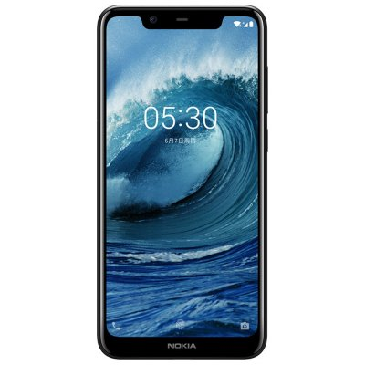 Nokia X5 4GB + 64GB ROM Phablet Phone - Black