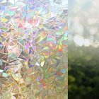 Non-Adhesive Static 3D Irregular Pattern Colorful Window Film