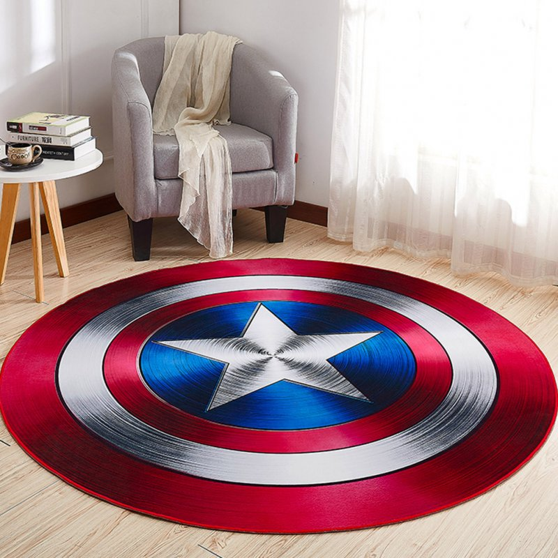 Non Slip Cartoon Printing Round Crawling Carpet for Computer Chair Kids Room Round 2_80cm