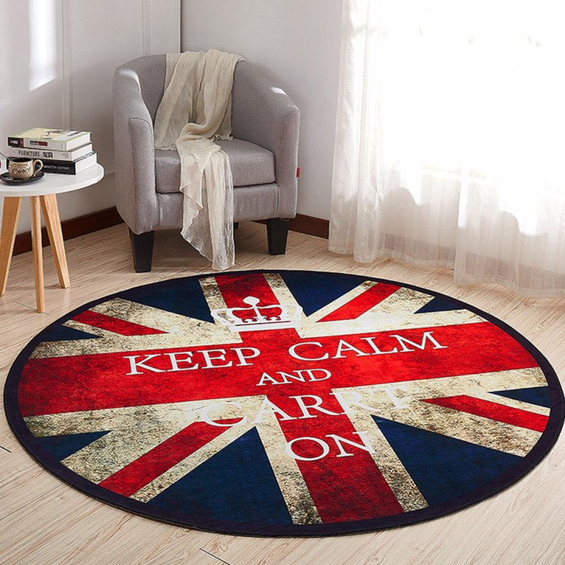 Non Slip Cartoon Printing Round Crawling Carpet for Computer Chair Kids Room Round 11_100cm